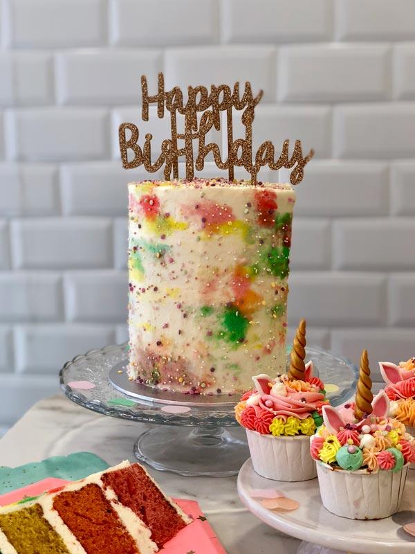 Pienso en dulce tarta sin fondant